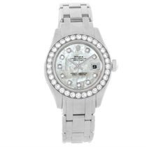 Rolex Pearlmaster Masterpiece 18k White Gold Diamond Watch 80299
