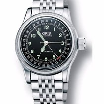 Oris Big Crown Original Pointer Date, Black Dial, Steel