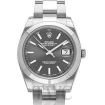 Rolex Datejust 41 Dark Rhodium/Steel 41mm Oyster - 126300