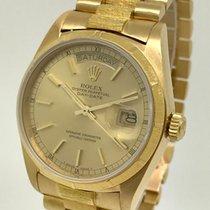Rolex Day-Date Presidential Bark Single Quickset 1986 18k Watch