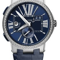 Ulysse Nardin EXECUTIVE DUAL TIME Steel, Bezel DIamonds,...