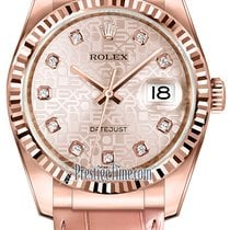Rolex Datejust 36mm Everose Gold 116135 Jubilee Pink Diamond