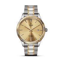 Tudor STYLE Steel Gold Date Automatic Champagne Dial 12713