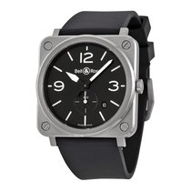 Bell & Ross Men's BRS-BLC-ST Aviation Steel Watch