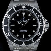 Rolex S/Steel O/P Black Dial Non-Date Submariner Gents 14060