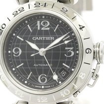 カルティエ (Cartier) Polished Cartier Pasha C Gmt Steel Automatic...