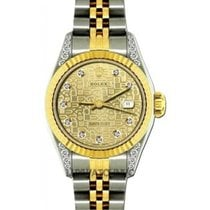 Rolex Datejust Ladies' 26mm Yellow Jubilee Dial Yellow...
