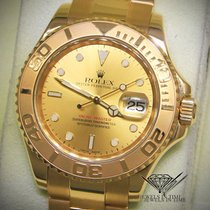 Rolex Yacht-Master 18k Yellow Gold Champagne Dial Mens Watch...