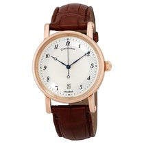 Chronoswiss Kairos Slver Dial Men's 18K Rose Gold Leather...