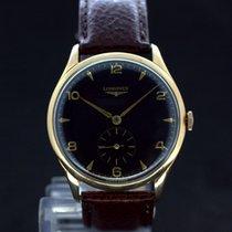 Longines Oversize Handaufzug Black Dial 18Kt Gold ca.1960