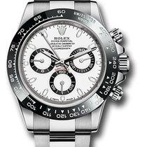 Rolex white dial ceramic bezel 116500LN w Daytona Steel