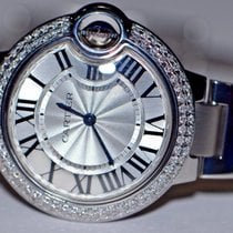 Cartier Ballon Bleu Midsize 33mm Stainless Steel Diamonds