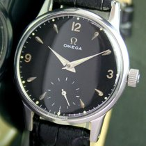 Omega Winding Side Second Black Dial Steel Mens Watch 2495 17