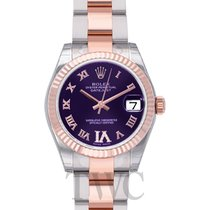 Rolex Datejust Lady 31 Purple Steel/18k rose gold Dia 31mm -...