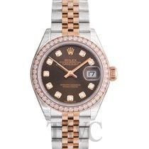 Rolex Lady-Datejust 28 Chocolate Steel/18k Everose Gold Dia...
