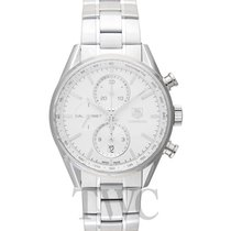 TAG Heuer Carrera Calibre 1887 Chronograph Silver Steel 41mm