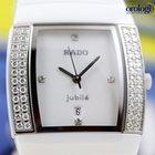 Rado Sintra Jubilé Diamonds Hi-Tech White Ceramic Ladies Watch