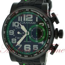 "Graham Silverstone Stowe ""Green"", Black Carbon Dial,..."