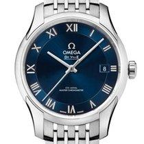 Omega 43310412103001 De Ville Hour Vision Coaxial Steel Blue