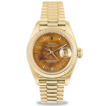 Rolex Datejust President Ladies 18k, Wood Dial, Ref: 69178