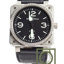 Bell & Ross 01 92 Aviation Military Diamonds crocodile...