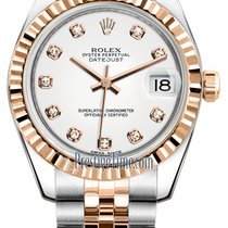 Rolex Datejust 31mm Stainless Steel and Rose Gold 178271 White...