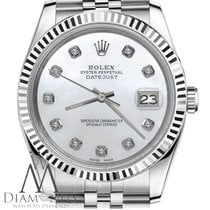Rolex 26mm Womens Rolex Datejust White Mop Mother Of Pearl...