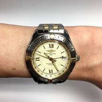 Breitling 1884 Antares World 18k Yellow Gold & Stainless...