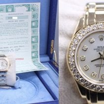 Rolex Pearlmaster 69298 18k Yellow Gold Mop Diamond Dial &...