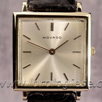 Movado Tank Carre Ultra-thin 18kt. Gold Vintage Watch