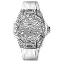 Hublot Big Bang One Click Steel White Full Pavé