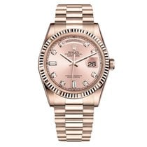 Rolex DAY-DATE 36mm Rose Gold Pink Diamond Dial