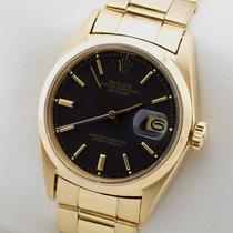Rolex DATEJUST 18K GOLD GELBGOLD AUTOMATIC HERRENUHR BOX PAPIERE