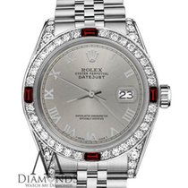 Rolex 36mm Datejust Stainless Steel Grey Roman Numeral Dial...