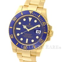 Rolex Submariner Date Blue Ceramic Bezel Yellow Gold 40MM V...