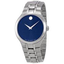 Movado Blue Dial Men's Steel Watch