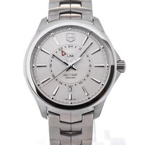 TAG Heuer Link GMT Automatic 42 Steel Silver Dial Guilloche...