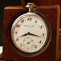 H.Moser & Cie. Lepine Pocket Watch, 1930s, porcelain dial,...