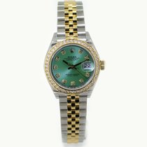 Rolex Lady Datejust 28 Green Diamond Dial 279383RBR