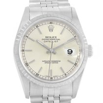Rolex Datejust Steel Silver Dial Automatic Steel Mens Watch 16220