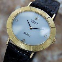 Rolex Cellini 18k Solid Gold Swiss Mens Diamond Dress Watch...