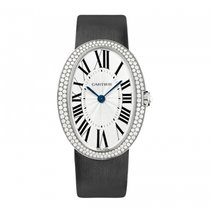 Cartier Baignoire Large Model White Gold Diamonds Watch