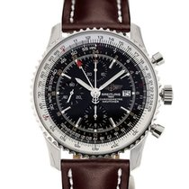 Breitling Navitimer World 46 Chronograph Black Dial Brown...