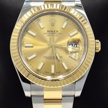 Rolex Datejust II 116333 41mm 18k Yellow Gold /ss Champagne...