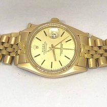 Rolex Datejust Jubille Bark 18k Gold 36mm Safire Glass