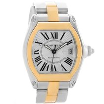 Cartier Roadster Yellow Gold Stainless Steel Mens Watch...