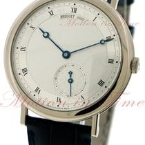 Breguet Classique Automatic, Silver Dial - White Gold on Strap