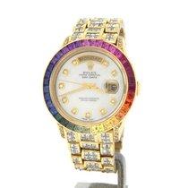 Rolex 18k Gold Day-date President Full Diamond Rainbow...