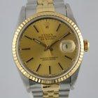 Rolex Datejust 16233 Gold/ Stahl #A3031 Box, Papiere