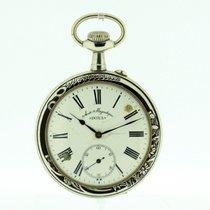Doxa Huge Vintage Pocket Watch Diameter 69 mm Hunting Scene on...